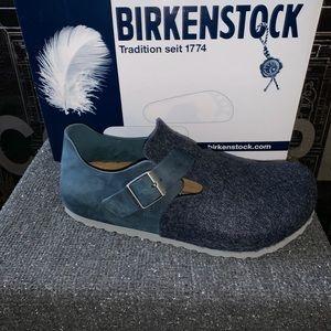 Birkenstock London size 40 blue, new